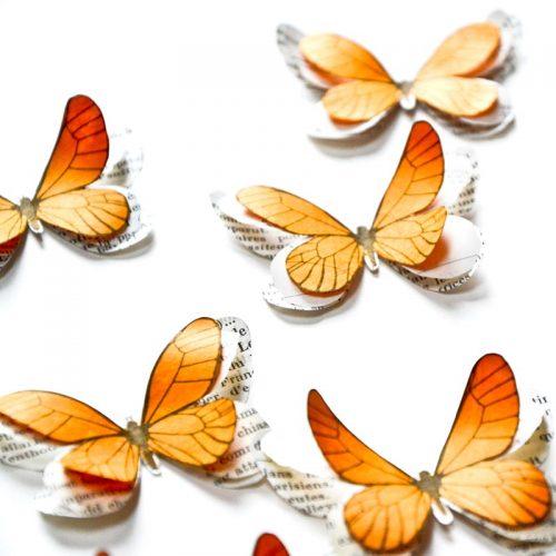 papillons en papier Maryline