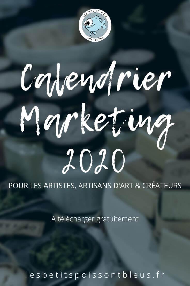 calendrier marketing 2020 pour votre boutique créative