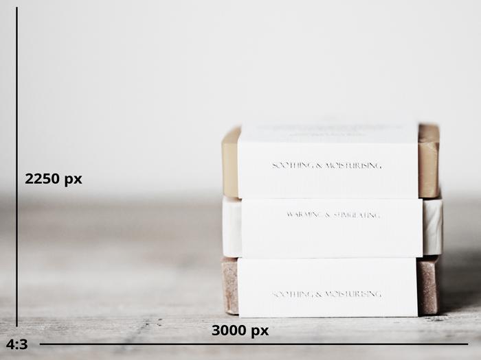 Dimensions des photos de produits sur Etsy