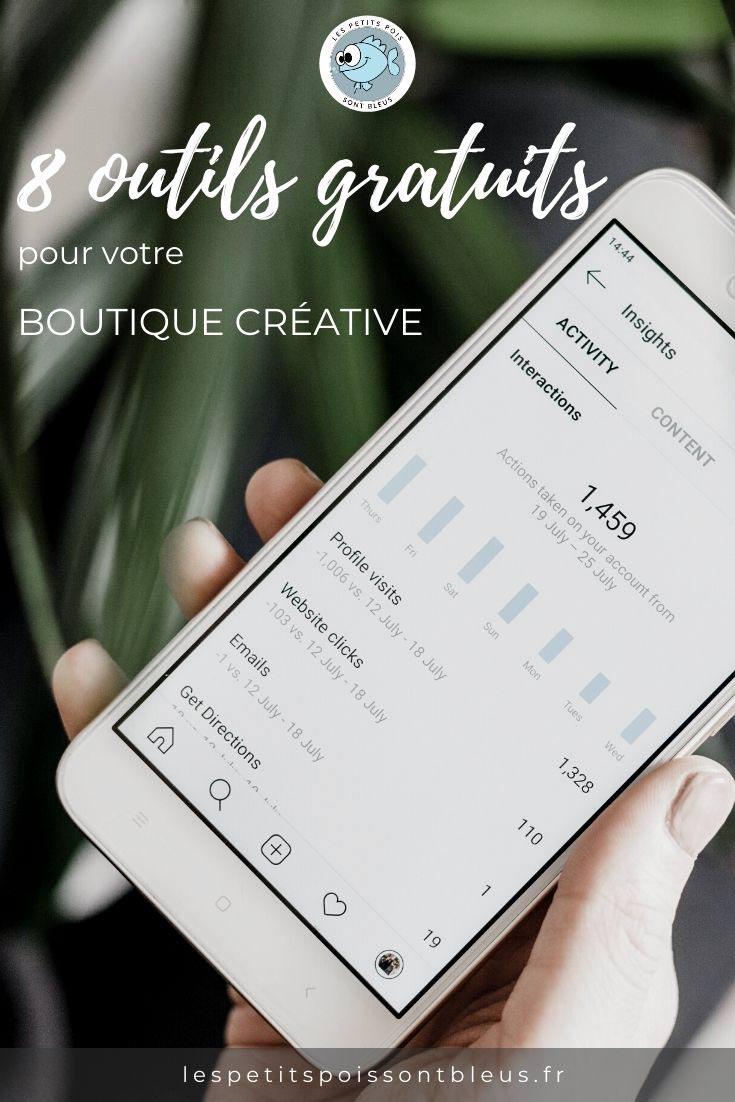 outils gratuits pour boutiques créatives