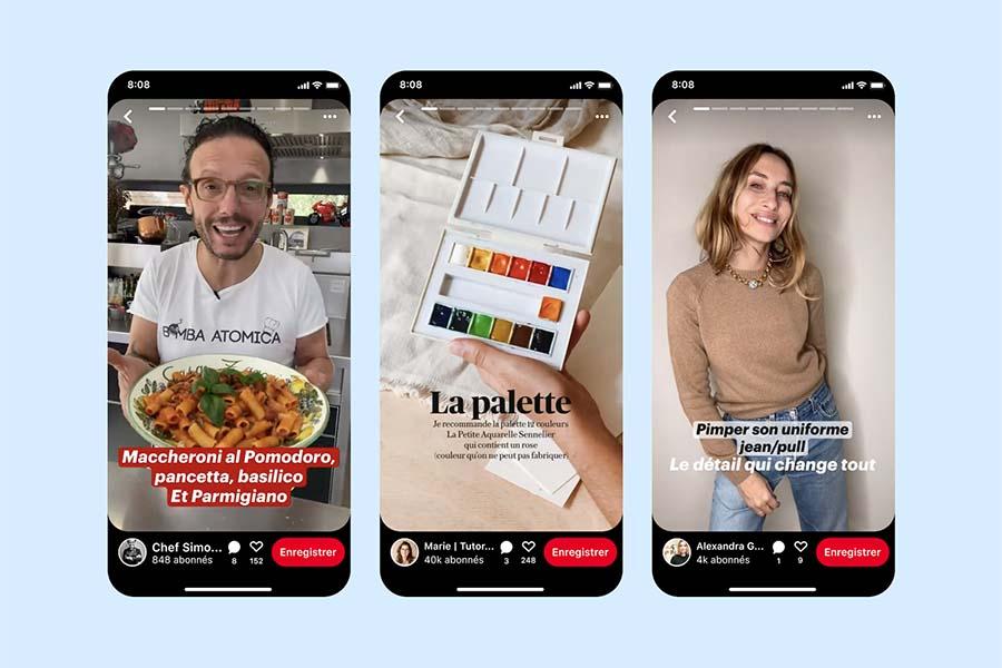 Pinterest : lancement des épingles story enFran