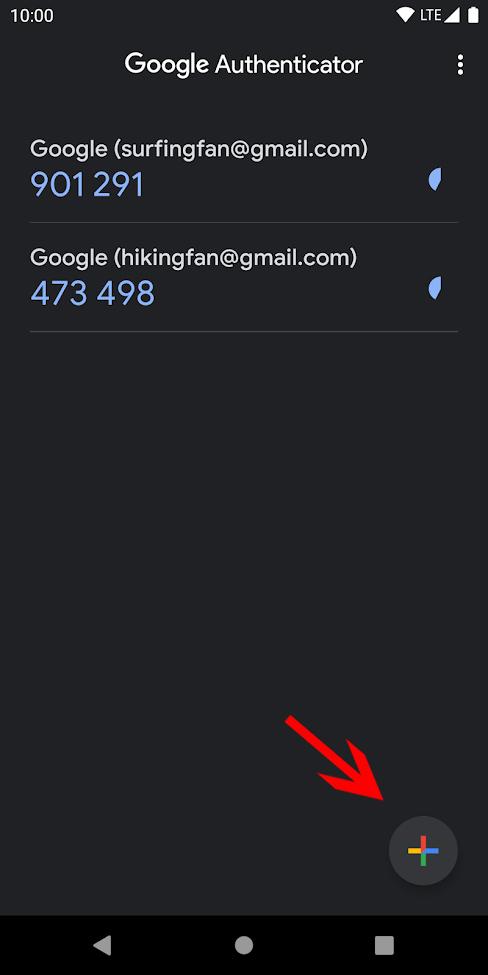 Ajouter un compte dans Google Authenticator