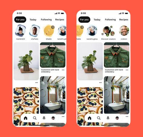 Les Idea Pins de Pinterest ressemblent aux stories des réseaux sociaux