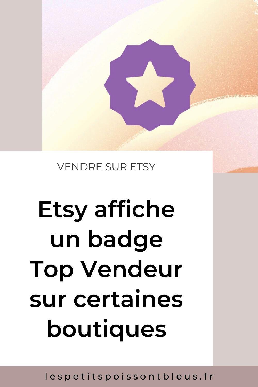 Etsy lance un badge Top Vendeur